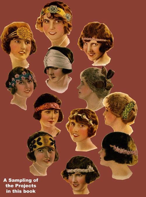 Ribbon Arts (2) c.1920's Flapper era Vintage Ribbon Fashions Book To Sew or Make #ribbonart