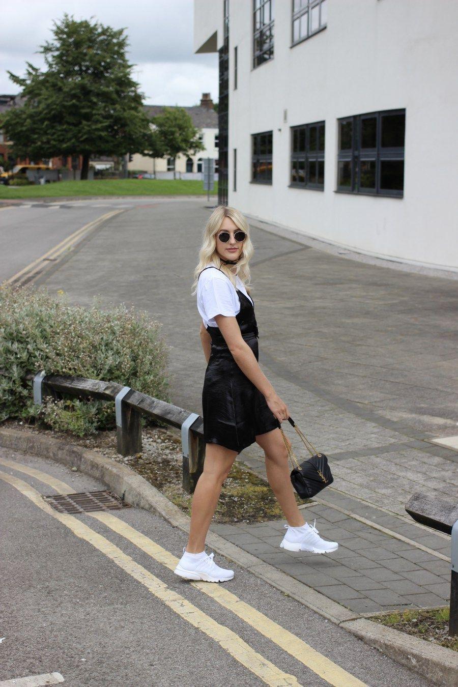 the slip dress & small boobs dilemma | monochrome outfit, monochrome