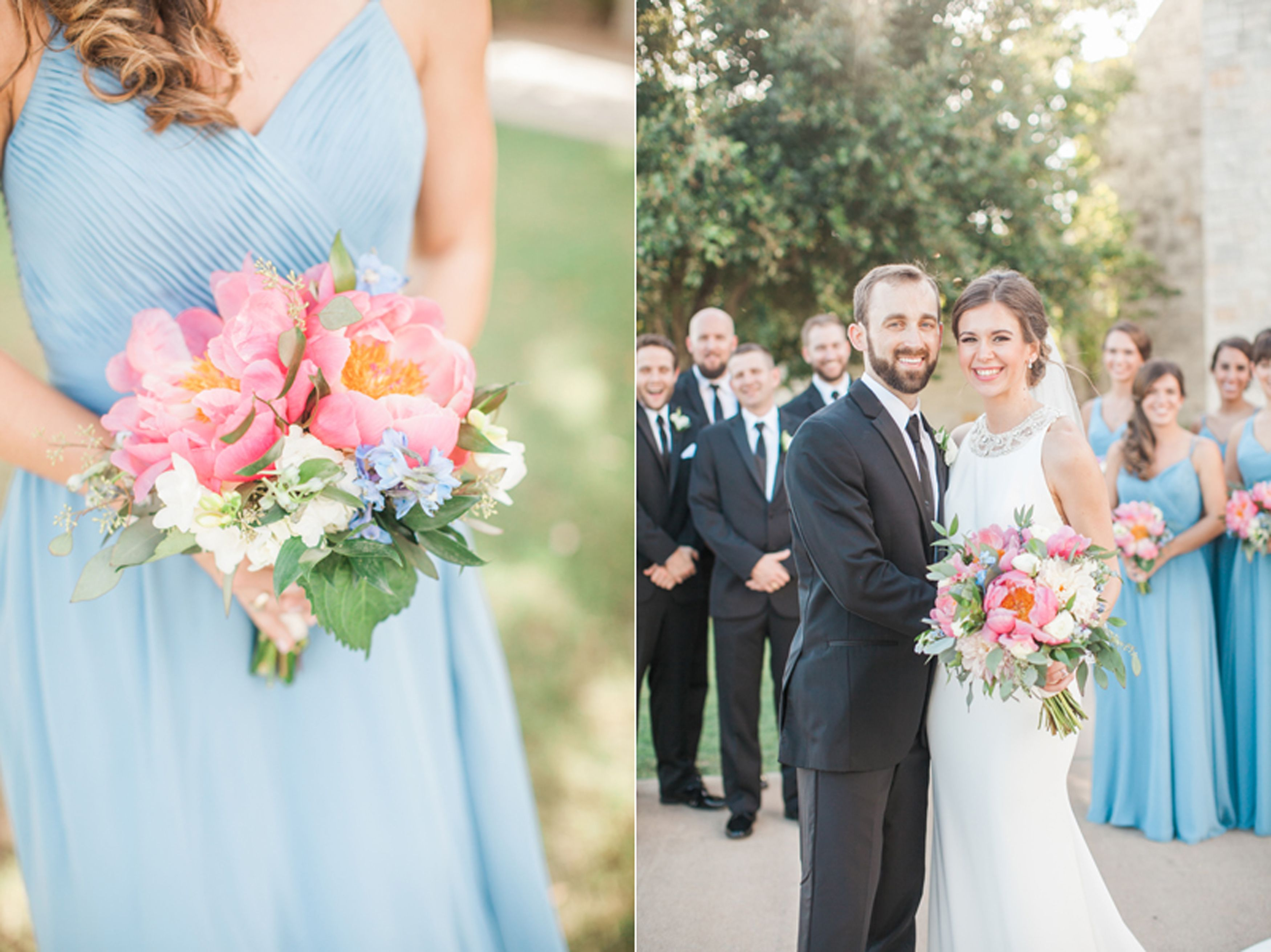 Sky blue bridesmaid dresses by nicole chatham photography ncp