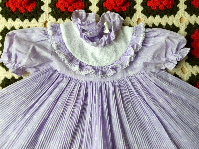 70s Purple Dress 2/3T by lishyloo on Etsy