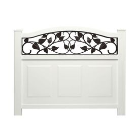 Barrette 38-in x 39-in White Vinyl Fence Panel