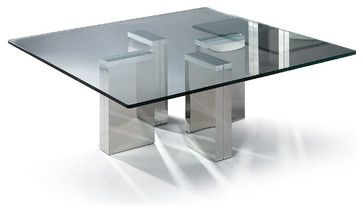 Modern Square Glass Coffee Table Urbino Modern Coffee Tables