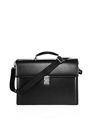 Montblanc Leather Briefcase - Black