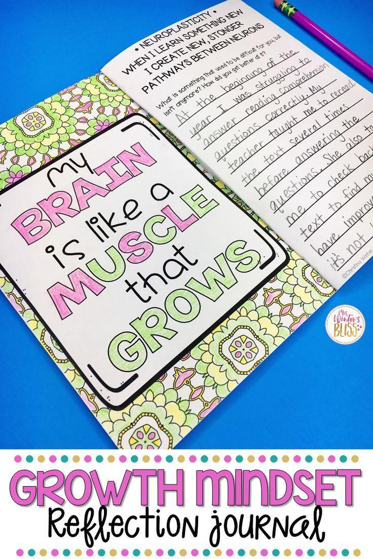 Growth Mindset Reflection Journal Growth mindset, Growth
