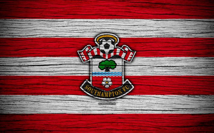 Download Wallpapers Southampton, 4k, Premier League, Logo