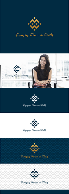 "Create an innovative/elegant letter mark logo for ""Engaging Women in Wealth"" by radixnala™"