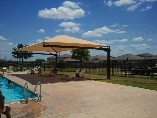 Have Your Homeowners Association Contact Us Today About Shade Structures For Your Hoa Pool Shade Structure Pool Shade Shade Sail