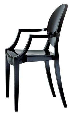 Kartell Louis Ghost Stackable Armchair Black Made In Design Uk Fauteuil Design Pas Cher Fauteuil Louis Ghost Fauteuil