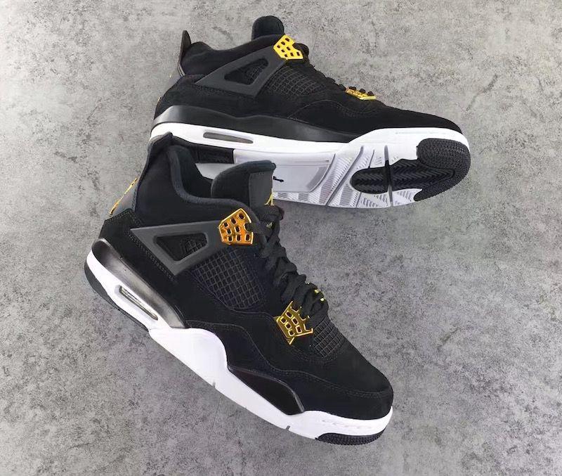 Air Jordan 4 Retro Black Metallic Gold White size 10.5 Mens  9f3bbed32