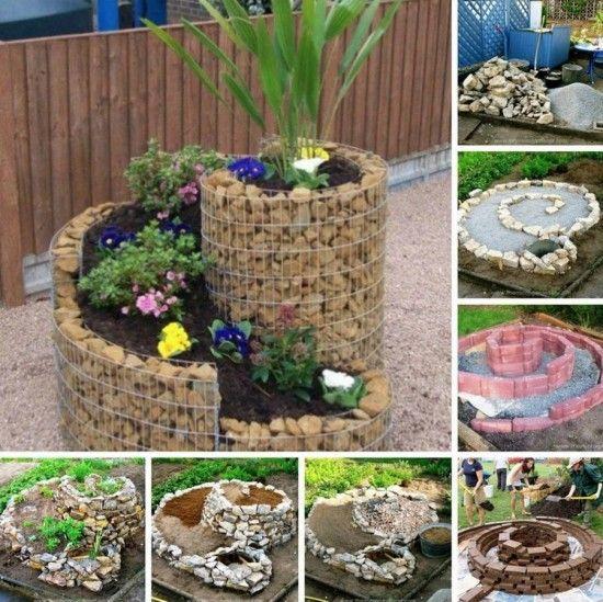 Ideas Para Hacer Un Jardin Con Plantas En Espiral Jardines Ideas De Jardineria Jardineria