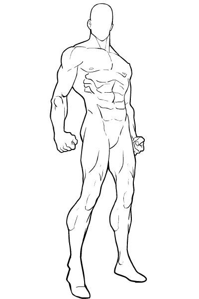 Superhero Character Template | blank-male-standing-2.png (400×600 ...