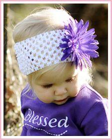 "Baby Headbands :: Christian Clothing | Christian Shirts | Christian Apparel by Faith Baby - Faith Baby Christian Apparel ""Grape Agape"""