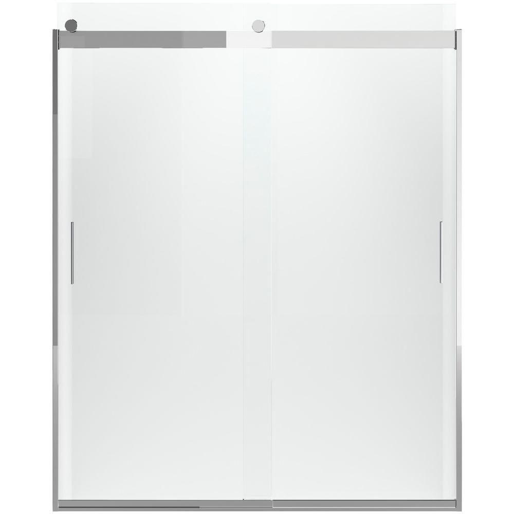 Kohler Levity 59 In X 70 In Semi Frameless Sliding Shower Door
