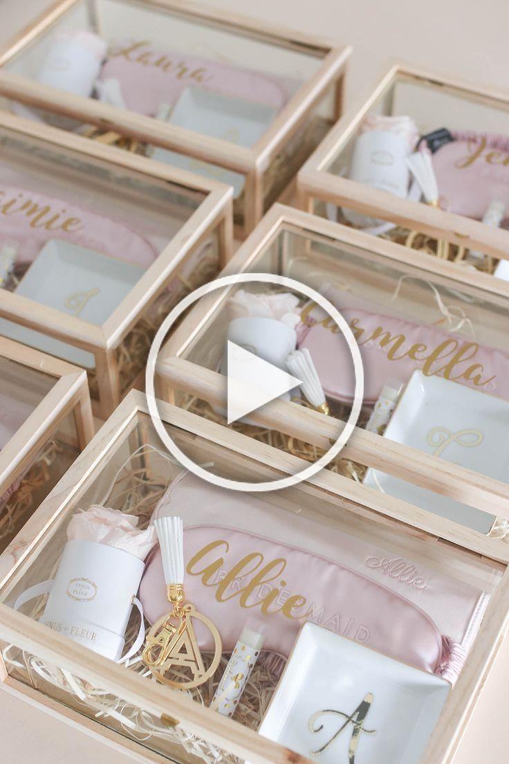 Wie man Ihre Brautjungfern fragt, Brautjungfern-Vorschlags-Kasten, Brautjungfern-Geschenk-Ideen   – Diy Christmas Ideas