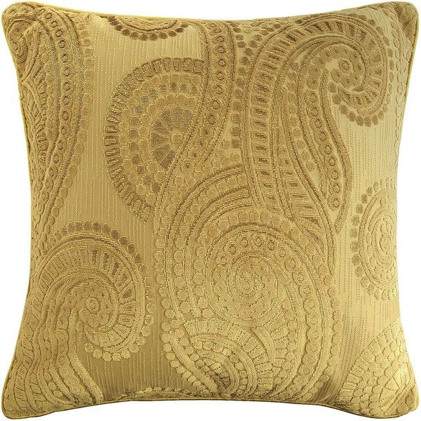 Pier 40 Imports Gold Baroque Paisley Pillow 40 Liked On Custom Pier 1 Decorative Pillows