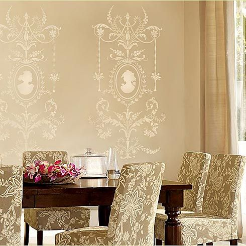Cutting Edge Stencils - Marie-Antoinette Grand Panel Stencil