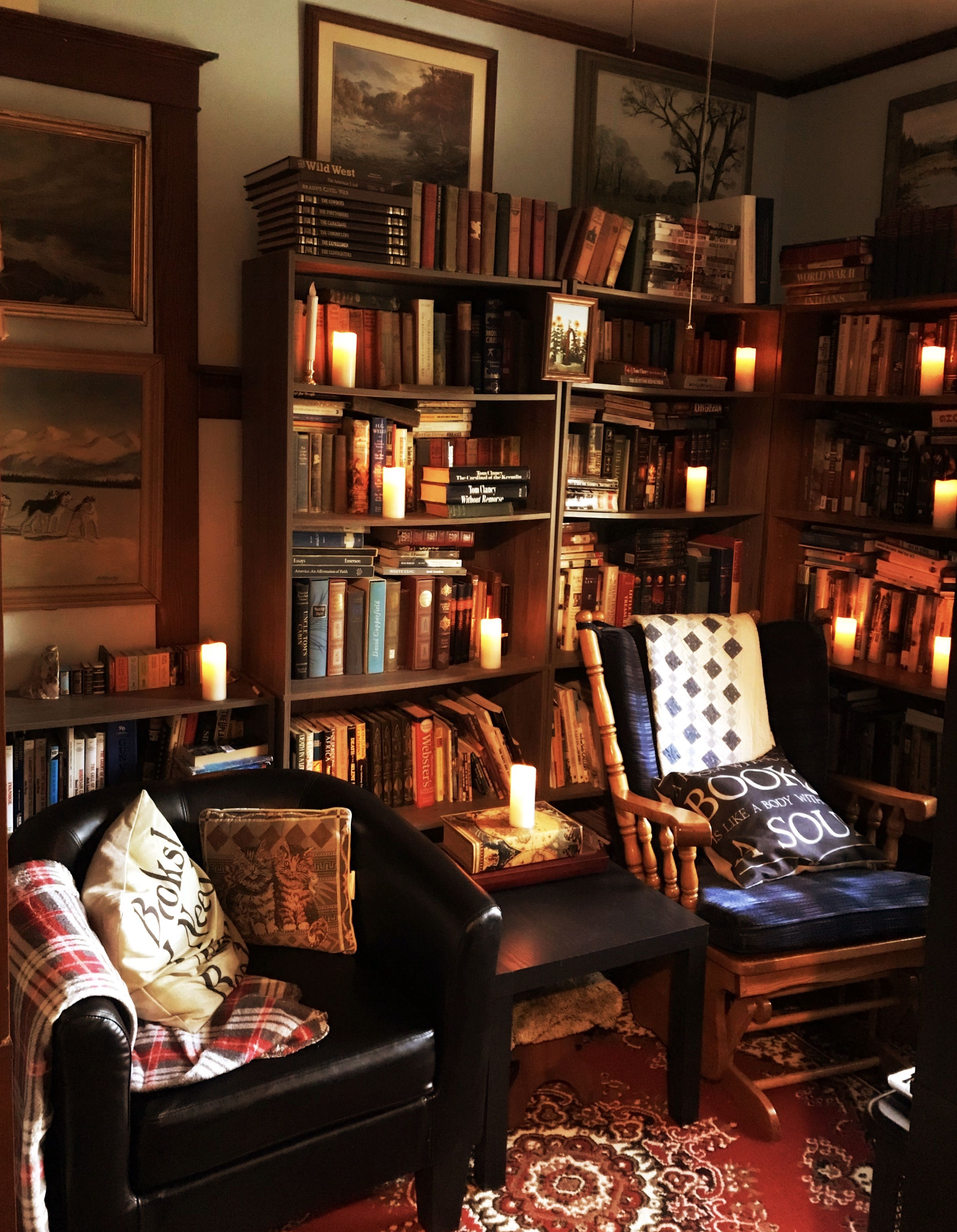 Englisches Wohnzimmer Home Library Library Cozy Library Small Library Diy Library