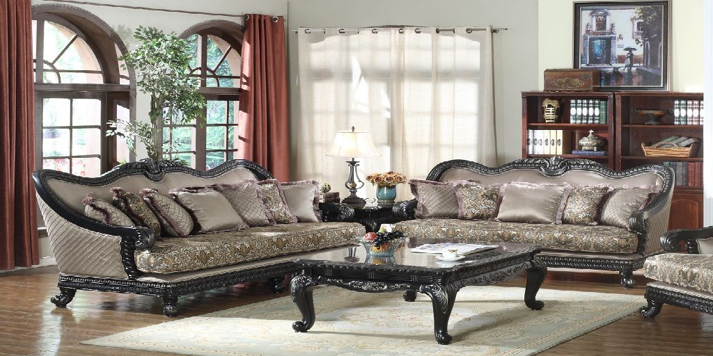 Wooden French Sofa Set