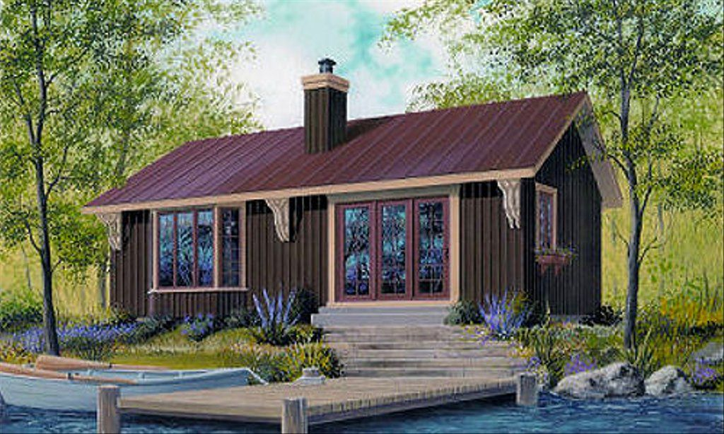 Cottage Style House Plan 2 Beds 1 Baths 874 Sq Ft Plan 23 754 In 2020 Cottage Style House Plans Cabin House Plans Drummond House Plans
