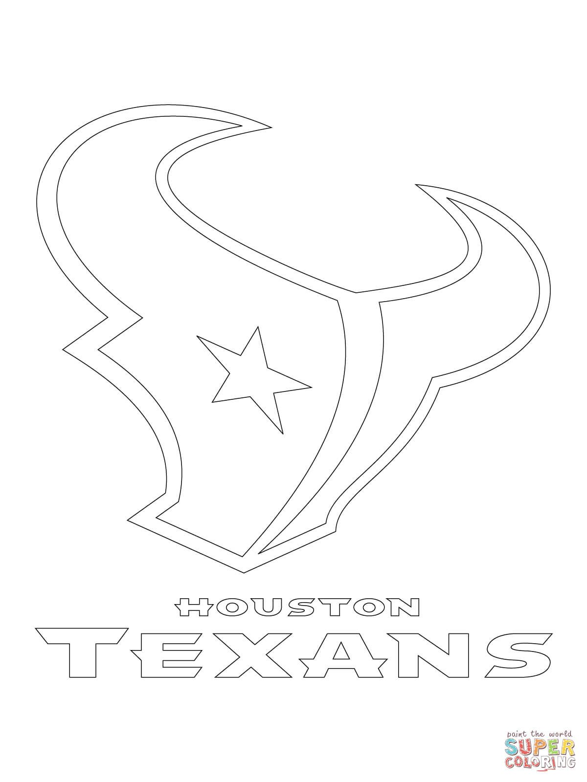 Houston Texans Logo Super Coloring Sports Coloring Pages