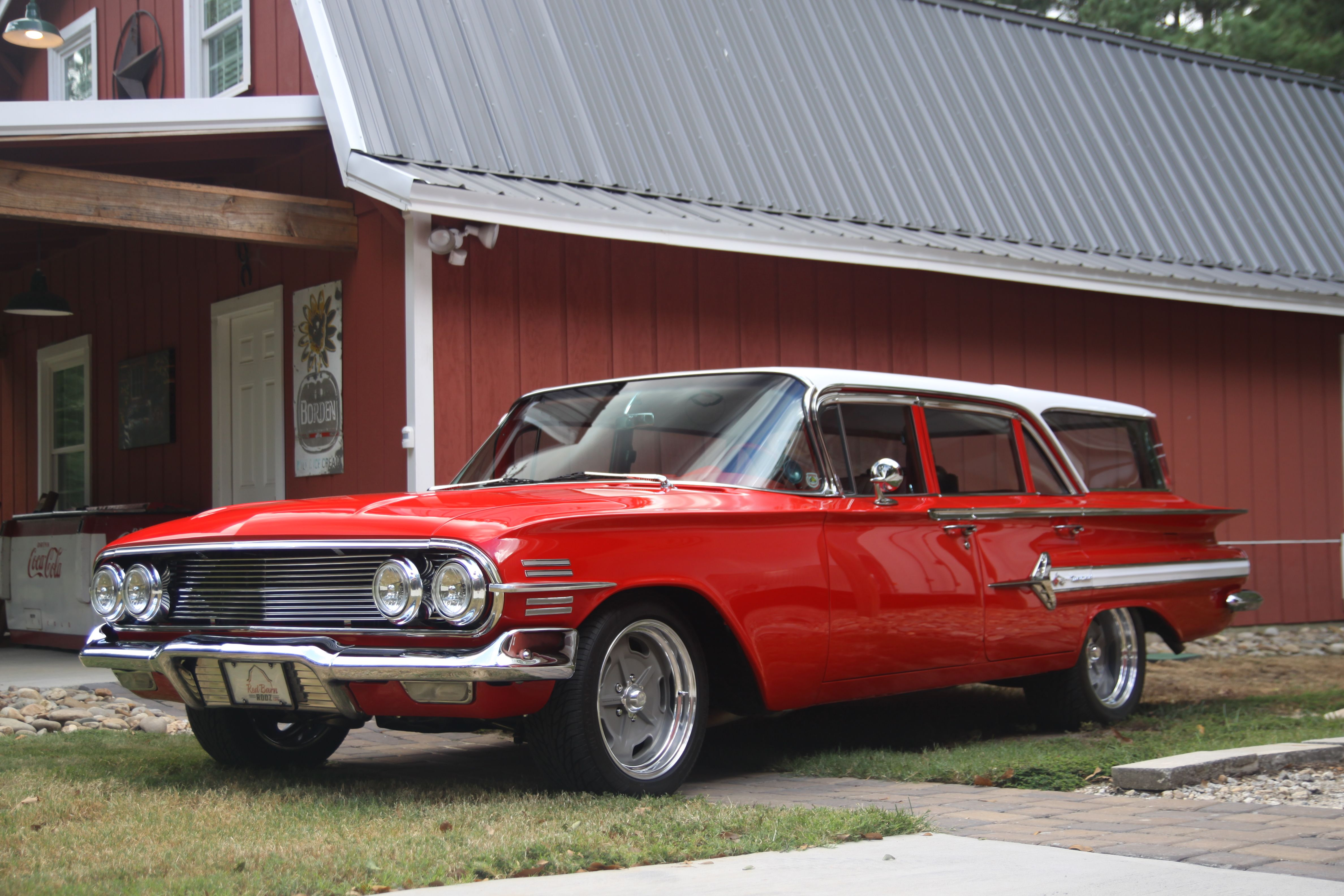 1960 Chevy Nomad Station Wagon With New Grill After New Paint Job