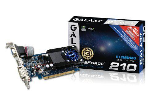 Galaxy GeForce 210 512 MB GDDR2 PCI Express 2.0 DVI/HDMI ...