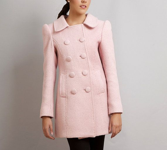 BLACK SWAN Natalie Portman's Pink Coat Nina Sayers wool winter ...