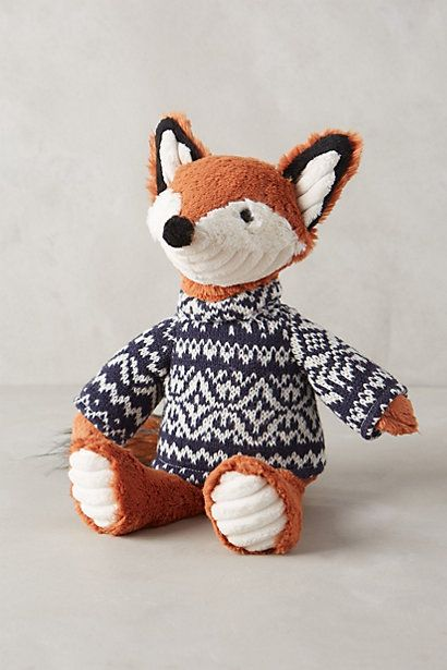 Quite possibly the cutest thing I have bought for Jacks room. Fox Family Stuffed Animal - anthropologie.com