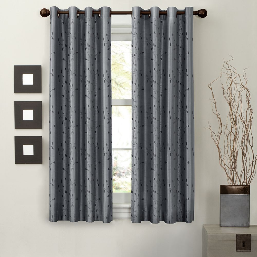 Light To Night 1 Panel Jardin Embroidered Thermal Window Curtain