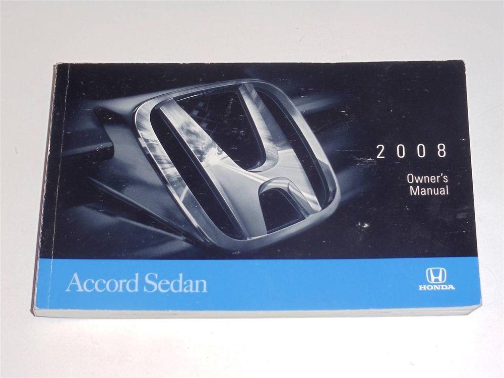 2008 Honda Accord Sedan Owners Manual Book Honda Civic Sedan Civic Sedan Owners Manuals