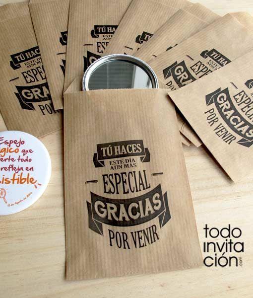 Bolsas peque as de kraft para peque os regalos o detalles for Regalo especial aniversario