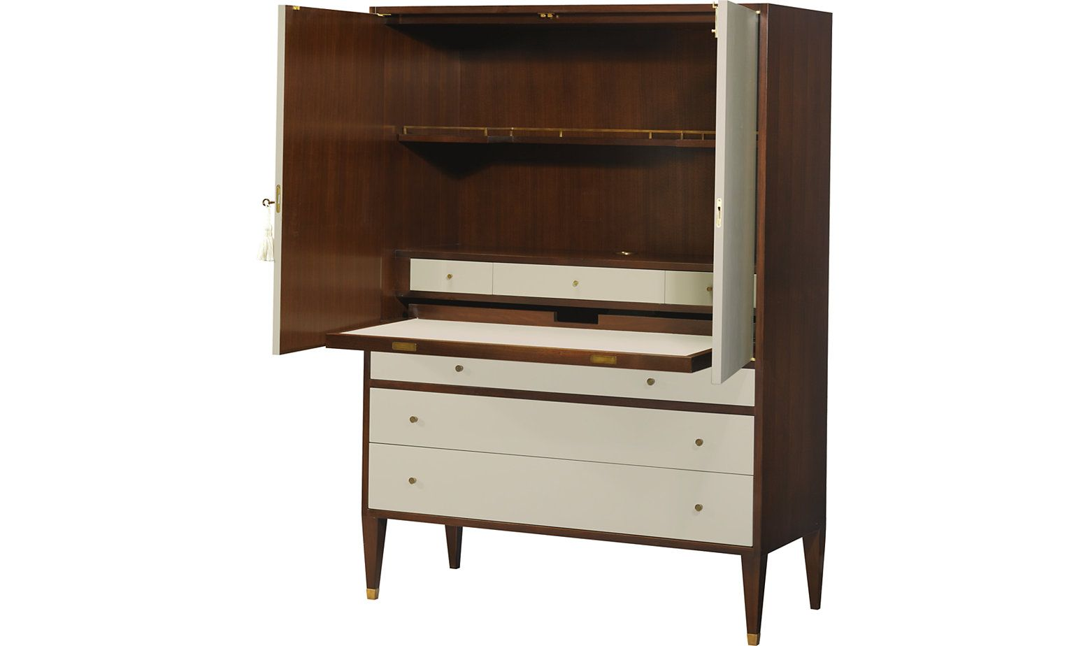 social study by barbara barry 3687 baker furniture armoire inspiration