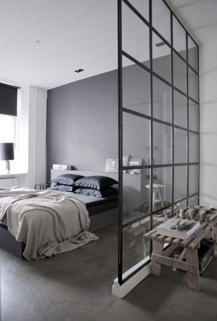 slaapkamer grijs | Interior design & decoration | Pinterest ...