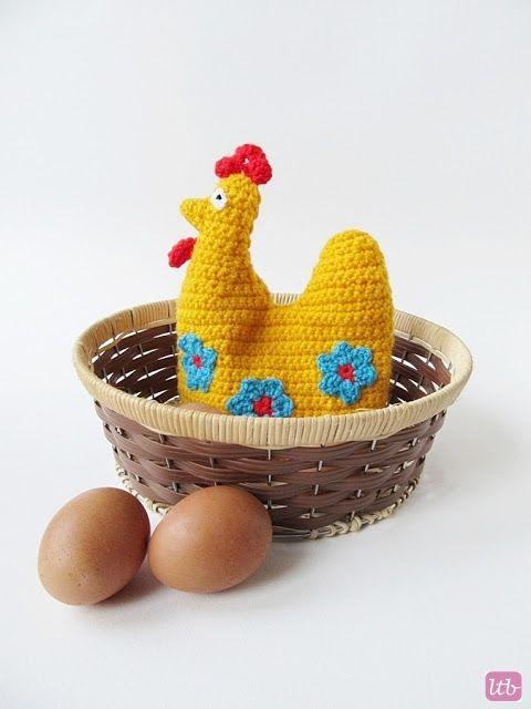 Little Things Blogged: {Crochet Easter Hen Egg Cozy Pattern ...