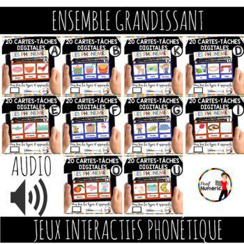 French Phonics Boom Cards Ou Cartes à Tâches Digitales