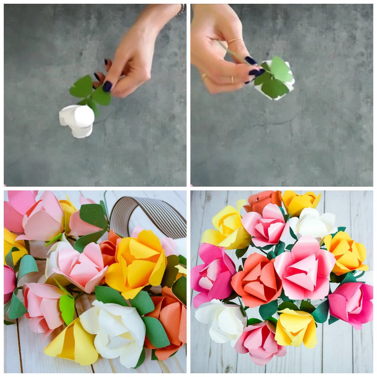 How to Make Paper Tulips Spring Tulip Paper Flower Tutorial in