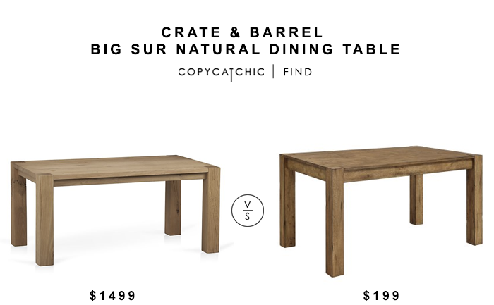 Crate And Barrel Big Sur Natural Dining Table Dining Dining