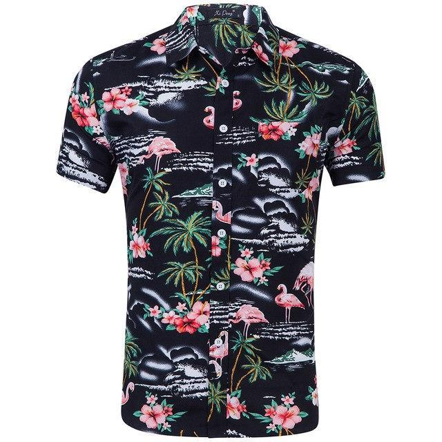 0f52728416b Hot sale 2018 Men Shirt Long Sleeve Fashion Floral Printing Male  Shirtsmodkily
