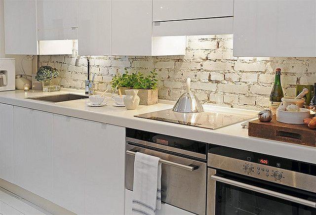 White Kitchen Brick Backsplash Modern Kitchen Backsplash Brick