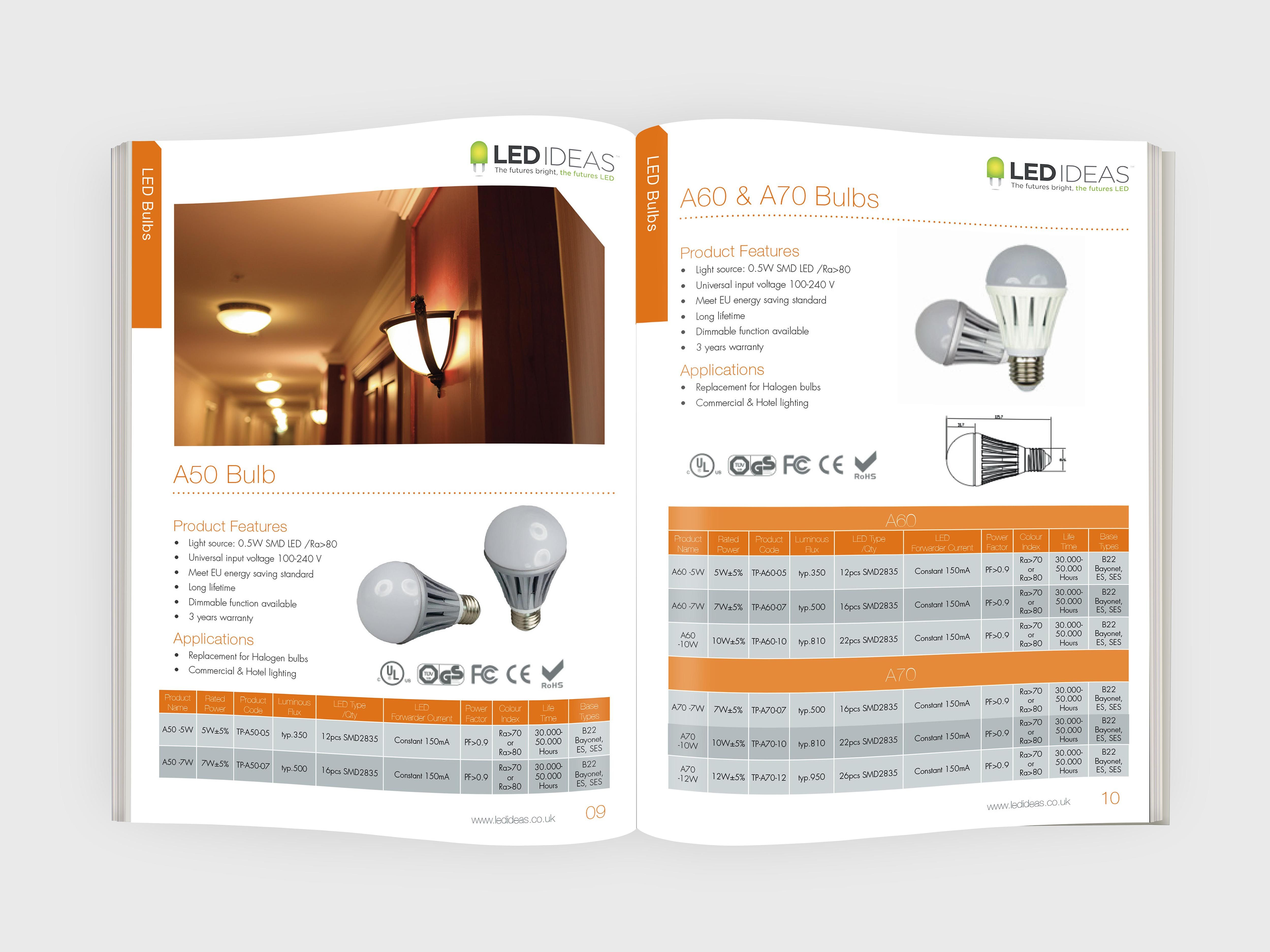 Product Brochures   Led Ideas Came To Me For Their New Products Brochure Design To