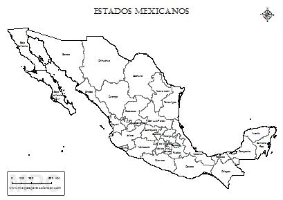 Mapas De Mexico Para Colorear Mapa De Mexico Mapas Mapa Para Colorear