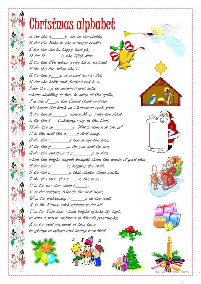 Christmas alphabet Christmas worksheets, Kids christmas