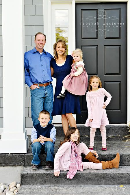 family picture on the front porch cute idea family picture ideas