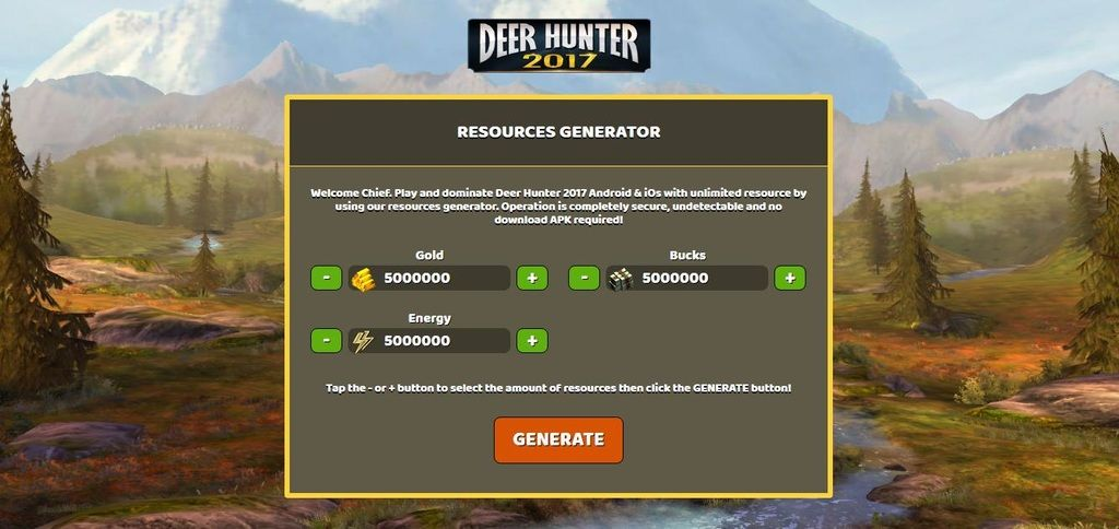 Deer Hunter 2017 Hack Tool Unlimited Free Cash and Gold