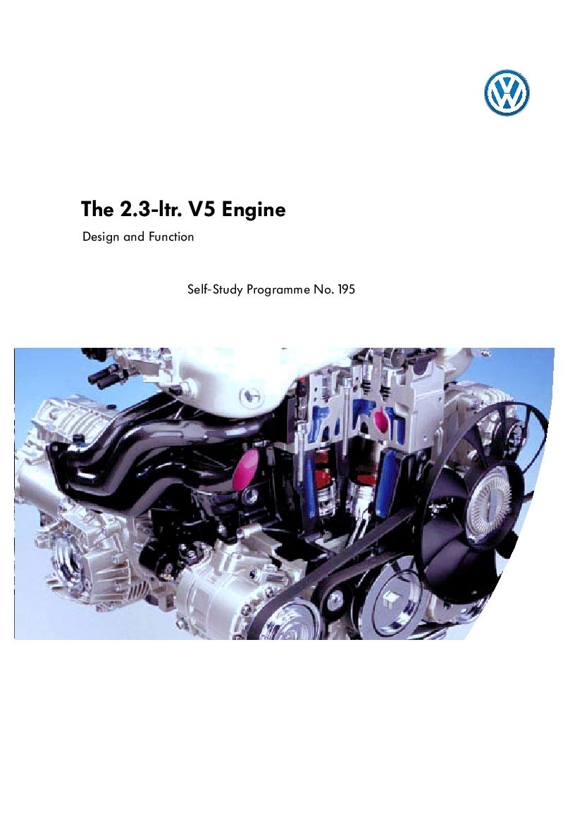 Ssp 195 2 3l V5 Engine Pdf Download Servicemanual Operatormanual Partsmanual Study Program Repair Manuals Repair