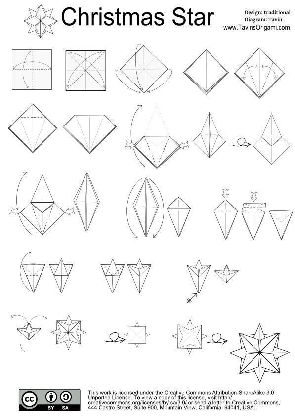 How To Make An Origami Christmas Star Christmas Origami