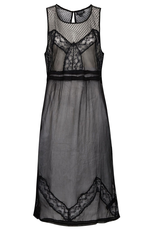 Chiffon Lace Midi Slip - Nightwear - Lingerie & Nightwear - Clothing - Topshop