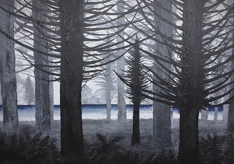 Original Tree Painting by Johnny-ray Henry | Abstract Art on Canvas | The Passing Pines#abstract #art #canvas #henry #johnnyray #original #painting #passing #pines #tree