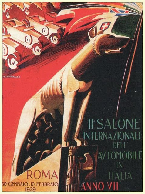 1929 11th Salone Internazionale deli Automobile in Italia: Automotive Art