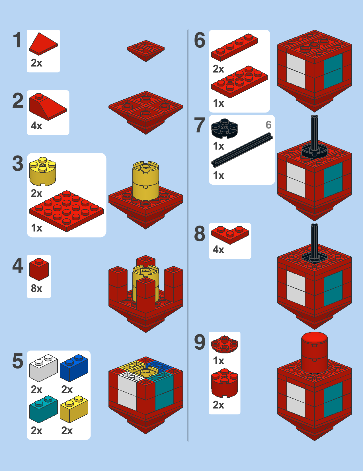 Directions For Making A Lego Dreidel With Images